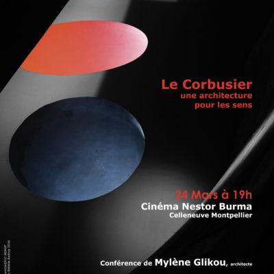 Affiche conférence sur Le Corbusier à Montpellier, 2016.