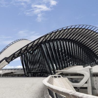 Gare TGV Saint-Exupéry, Lyon. Architecte : Santiago Calatrava