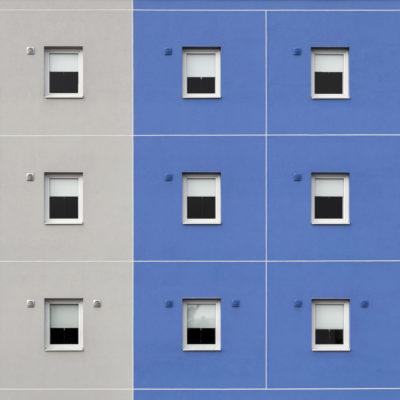 """Fenêtres colorées """"Bleu orage"""""""
