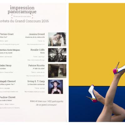 Lauréat de la catégorie Mode / Fashion. Concours réalisé par Impressions panoramique, 2016.