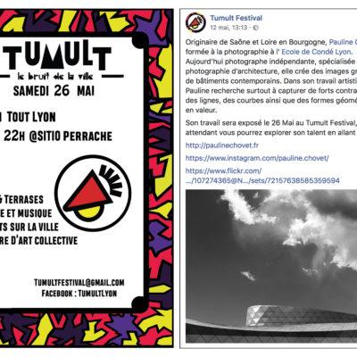 """Exposition de la série """"Architecture Sol Air"""" au """" Tumult Festival"""" à Lyon le 26 Mai."""