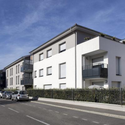 Résidence Côté Aqueduc, Sainte-Foy-Les-Lyon. Architecte : Archi Groupe. Maître d'ouvrage : Miprom / Sopagemo