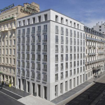 Résidence Hôtel de Nice, Lyon 2. Architecte : Clément Vergély Architectes / Immobilière Rhône-Alpes.