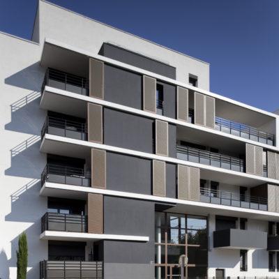 Résidence 9 Town, Lyon. Architecte : Cabinet VERA / HTVS / SUD Groupe. Maître d'ouvrage : MIPROM