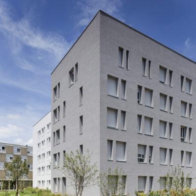 Résidence Crous, Mermoz. Architectes : HTVS / Opac du Rhône. Maitre d'ouvrage : ADIM (groupe VINCI).