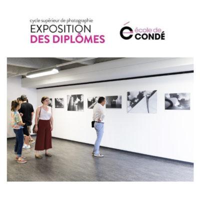 """Exposition de la série """"Architecture Sol Air"""" à l'Ecole de Condé, 2017."""
