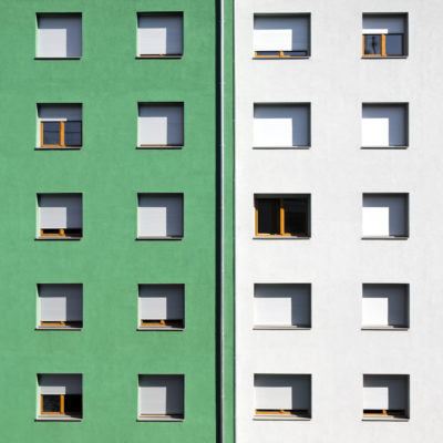 """Fenêtres colorées """"Vert dur"""""""