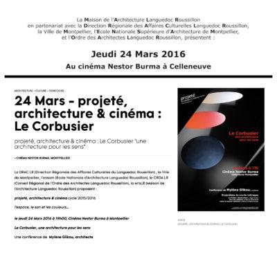 Photo ayant servit pour l'affiche de conférence sur Le Corbusier à Montpellier, 2016.